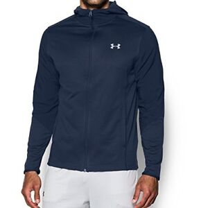 Mens Under Armour Coldgear Infrared Raid Full-Zip Hoody Midnight NavyGrey Small