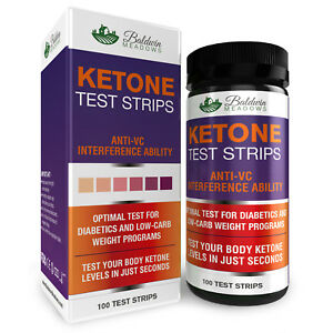 Ketone Urine Test Strips 100 Count Best for Keto Low Carb amp; Diabetic Diet