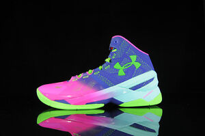 Under Armour Curry 2 Northern Lights Christmas pink purple 1259007-652 SIZE 12