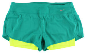 Nike Womens Rival Jacquard Two In One Running Shorts Teal