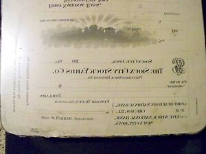 Lithograph Printing Litho Stone Sioux City Stockyards Iowa Nebraska South Dakota