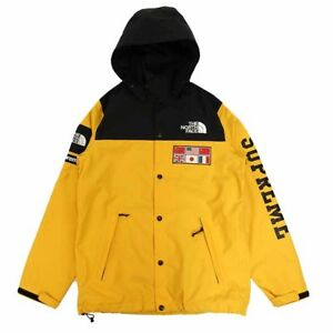 THE NORTH FACE x SUPREME Box Logo Taxi Yellow Black Expedition Coaches Jacket S