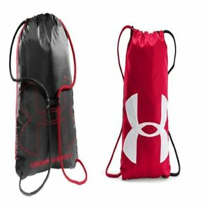 NEW Under Armour Ozsee Sackpack Backpack  RedBlack One Size For Men Women