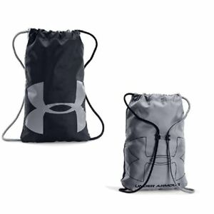 NEW Under Armour Ozsee Sackpack Backpack for Men Women BlackSteel One Size