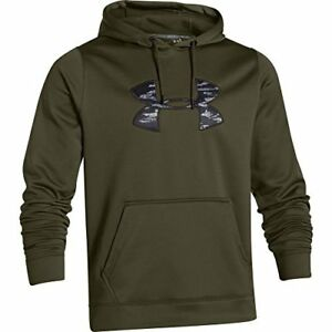 Under Armour Mens Ua Storm Caliber Water-Resistant Camo Hoodie Green X-Large