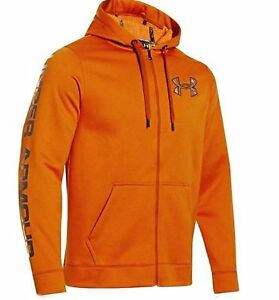 Under Armour Mens ColdGear Infrared Storm Caliber Full Zip Hooded SweatshirtXXL