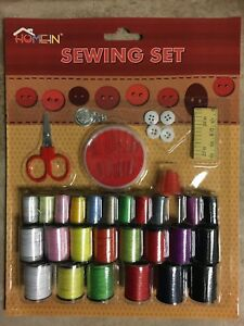 Sewing Kit with Needles 26 Pieces Assorted thread colors Tailor your clothes $5.45