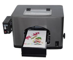 New A4 Size Flatbed Digital T-shirt Printer for White Cotton T-shirts