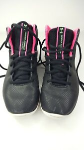 UNDER ARMOUR Size 4.5Y STEPH CURRY HI TOP BASKETBALL SNEAKERS GIRLS