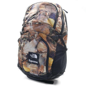 SUPREME  THE NORTH FACE 16 AW Pocono Backpack leaf camo pattern backpack BROWN