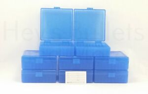 BERRY'S PLASTIC AMMO BOXES (8) BLUE 100 Round 38  357 - FREE SHIPPING