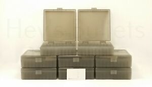 BERRY'S PLASTIC AMMO BOXES (8) SMOKE 100 Round 44 SPL  44 MAG - FREE SHIPPING