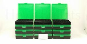 BERRY'S PLASTIC AMMO BOXES (12) GREEN 100 Round 40 S&W  45 ACP - FREE SHIPPING