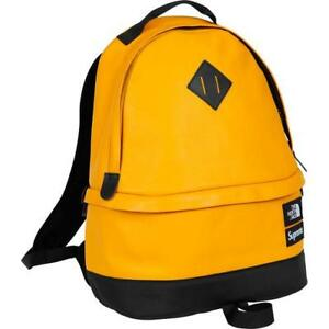 Supreme 17FW The North Face Leather Day Pack Yellow 1000% Authentic