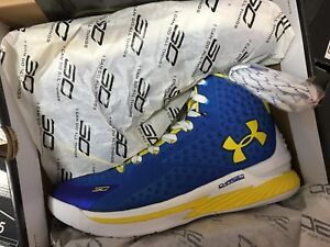 Under Armour Curry one Home Warriors 1 size 10.5 DS NEW NEVER WORN Dub Nations