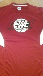Russell Men's Top Short Sleeve Dri Power Training Fit Red Basketball Size M Cool $9.99