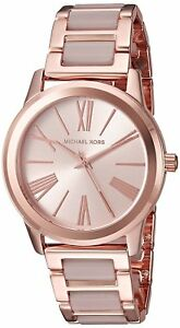 NEW Michael Kors Women's Rose Gold Stainless Steel Bracelet Watch MK3595