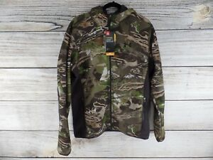 New Under Armour Mens Camo Fleece Jacket Realtree Hunting Hoodie Large