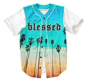 Tropical Blessed Baseball Jersey