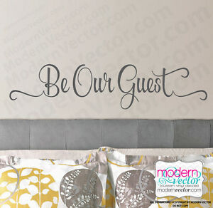 Beauty and the Beast Be Our Guest Quote Vinyl Wall Decal Sticker Disney MV2