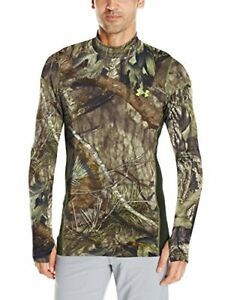 Under Armour Mens ColdGear Armour Scent Control Mock Mossy Oak Break Up