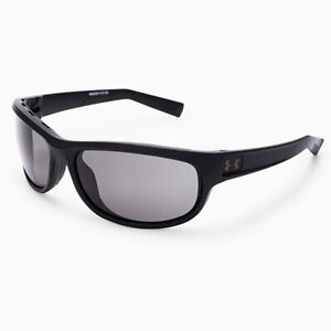 UNDER ARMOUR CAPTURE SUNGLASSES SATIN BLACK FRAME  GRAY LENS IGNITER ZONE 18268