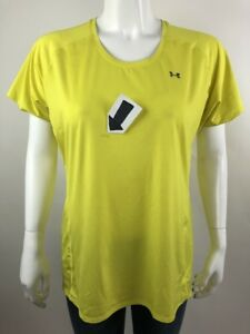 Under Armour Semi-Fitted Heat Gear Women Top T-Shirt Quick Dry Crew Neck Size XL
