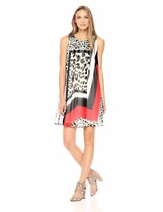 Calvin Klein Women's Printed Inverted Pleat a-Line Dress - Choose SZColor