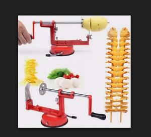 Potato spiral cutter twisted apple slicer red French fry Manual stainless steel