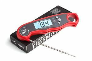 ConCase Digital Meat Probe Thermometer Quick Instant Read Foldable Gauge Cooking