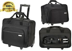 Laptop Bag With Wheels Best Rolling Computer Briefcase Targus Case 16 Inch Black