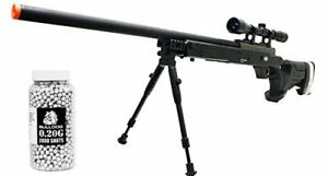Airsoft Spring Sniper Rifle [Well MB05] ScopeBipod 450 FPS 2000 BBs Speedloader