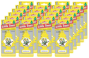 Little Trees Hanging Car and Home Air Freshener, Vanillaroma Scent - Pack of 24