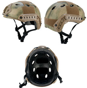 Lancer Tactical Basic Version PJ Type Airsoft Helmet in AT-FG Camo ATH Advanced