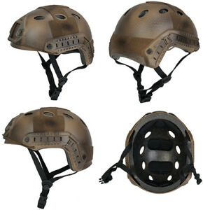 Lancer Tactical Basic Version PJ Type Airsoft Helmet in Custom Dark Earth ATH