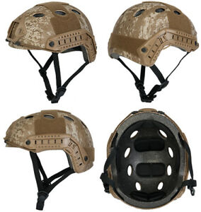 Lancer Tactical Basic Version PJ Type Airsoft Helmet in Desert Digital Marpat