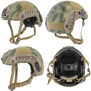 Maritime FAST Tactical Advanced Helmet LXL with Accessories in AT-FG Camo