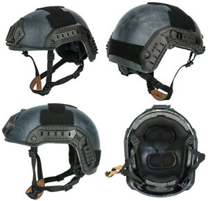 MilSim Maritime FAST Tactical Advanced Helmet LXL with Accessories in TYP Camo