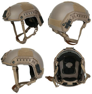Maritime FAST Tactical Advanced Helmet ML with Accessories in Dark Earth