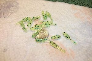 100 3 4quot; CRAPPIE PANFISH TROUT PERCH GRUB LOT LURE SOFT fishing jigs lots lures