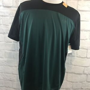 Men's Champion Duo Dry Fitted shirt pullover crew neck green black Size Medium