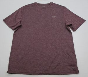 CHAMPION #T2392 Men's Size L Athletic DUO-DRY FITNESS Short Sleeve Maroon Shirt