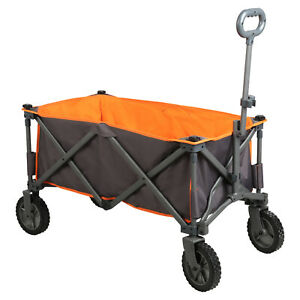 Collapsible Folding Utility Wagon Cart Garden Shopping Camping Outdoor 225 lbs