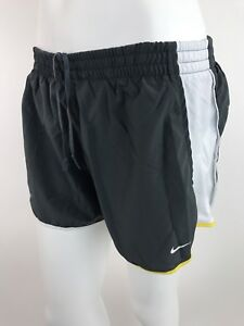 NIKE Fit Dri Tempo Shorts Women's Large Live Strong Training Run Workout Black