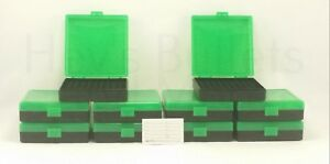 BERRY'S PLASTIC AMMO BOXES (10) GREEN 100 Round 9MM  380 - FREE SHIPPING