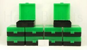 BERRY'S PLASTIC AMMO BOXES (10) GREEN 100 ROUND 223  5.56 - FREE SHIPPING