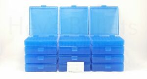 BERRY'S PLASTIC AMMO BOXES (12) BLUE 100 Round 40 S&W  45 ACP - FREE SHIPPING