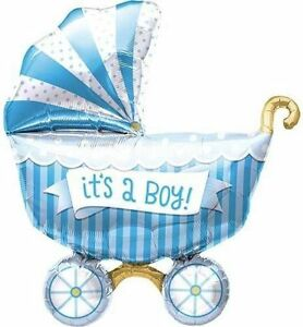 It's A Boy Baby Buggy Shaped Mylar Balloon - For It's a Boy Baby Shower  $1042