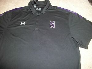 UNDER ARMOUR Northwestern Wildcats New NWT Mens 3XL XXXL Polo Shirt Loose Fit