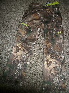 UNDER ARMOUR New NWT Mens Pants Fleece Real Tree Camo Camouflage Cold Gear Loose